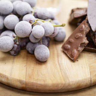 Frozen Grapes, Chocolate and Grappa