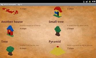 Screenshot of Big brick examples - Age 3