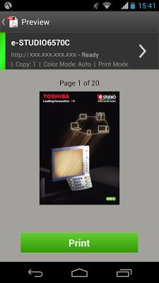e-BRIDGE Print & Capture - screenshot
