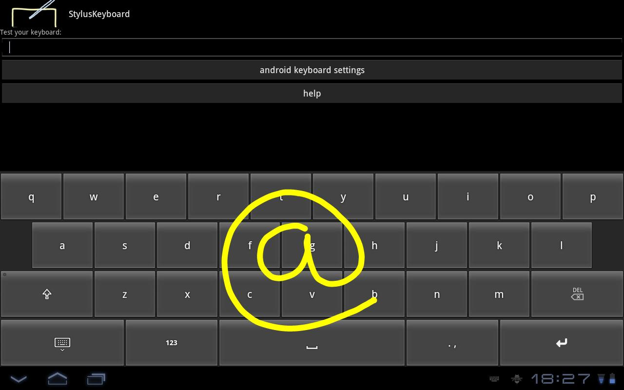 StylusKeyboard- screenshot