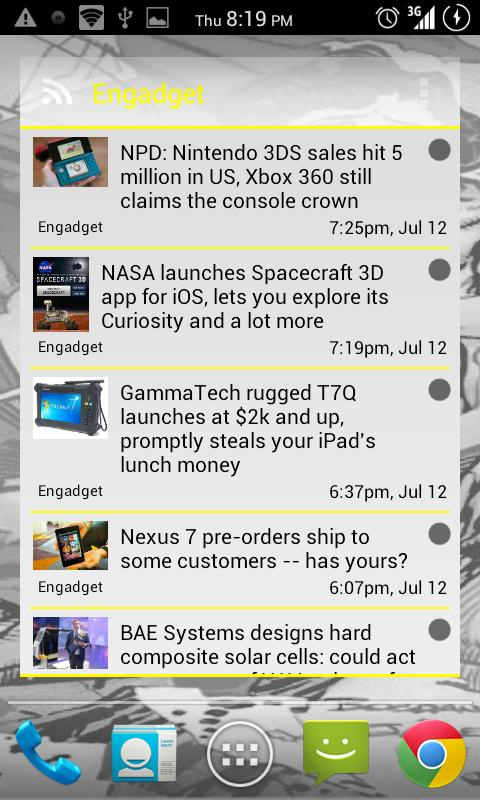 APW Yellow ICS Theme - screenshot