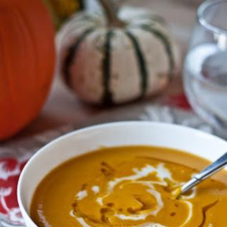 Roasted Acorn Squash and Sweet Potato Soup.