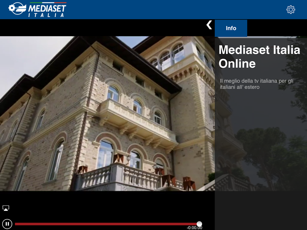 Mediaset Italia TV Online- screenshot