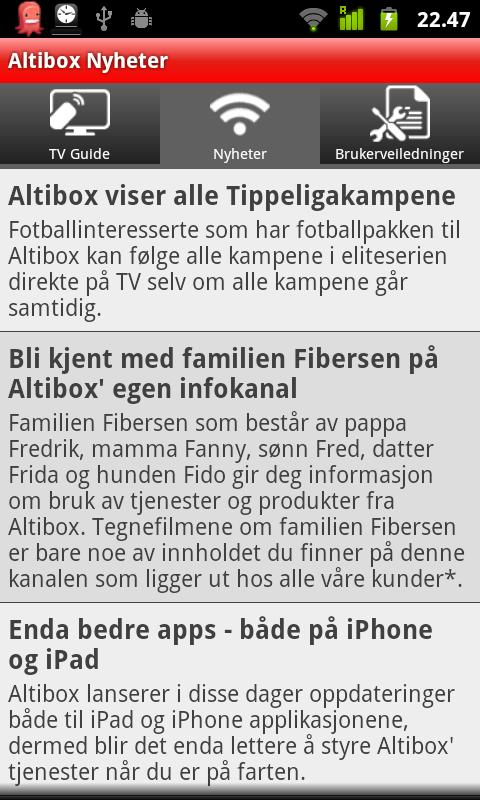 Altibox for Android - screenshot