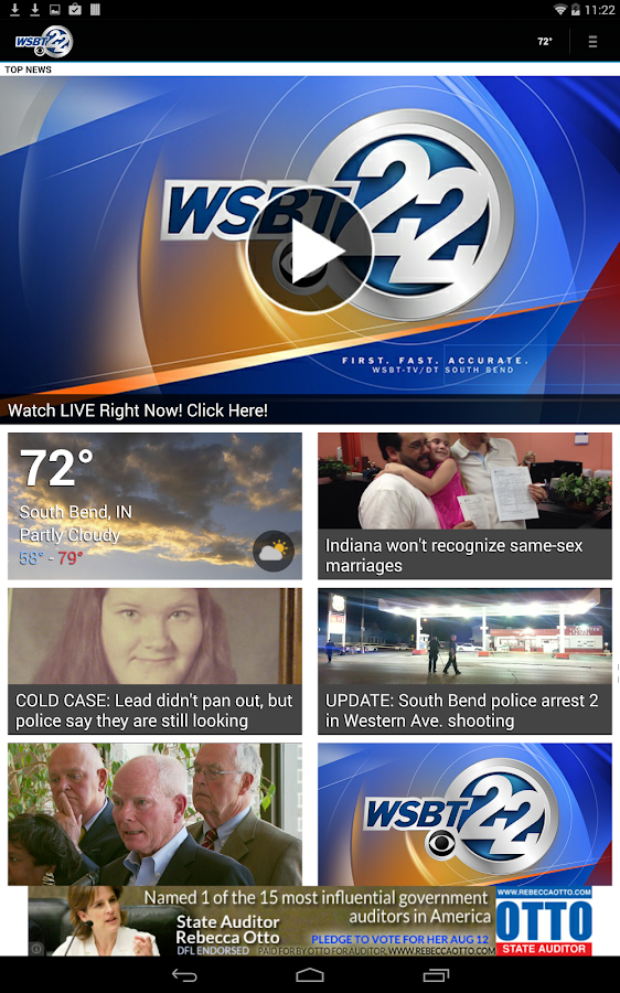 WSBT-TV News - screenshot
