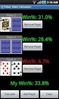 Screenshot of CJ Poker Odds Calculator