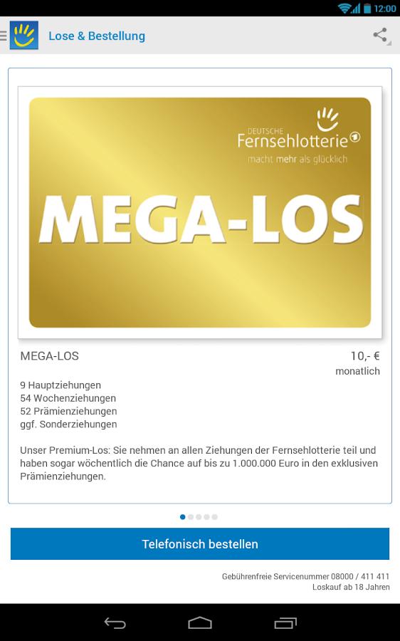 Jahreslos Deutsche Fernsehlotterie