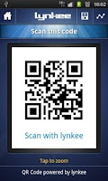 Screenshot of LYNKEE QR code barcode scanner