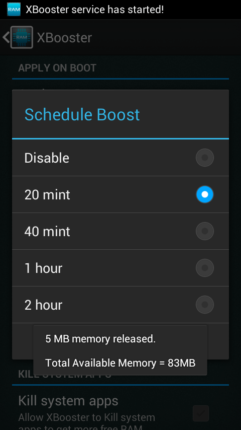 XBooster *ROOT* - Smart app- screenshot