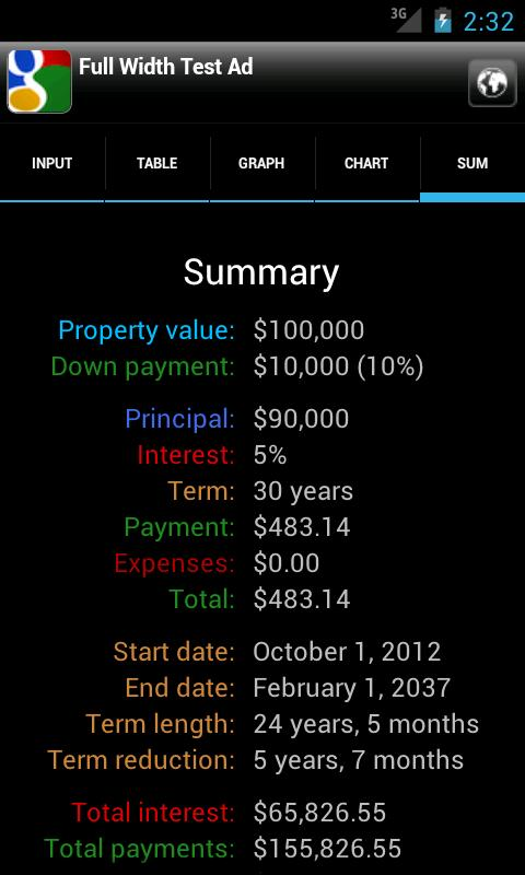Karl's Mortgage Calculator- screenshot