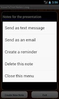 Screenshot of VoiceToText Notes Long