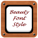 Beauty Font Style icon