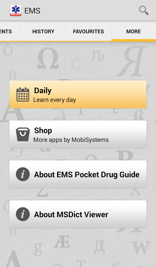 EMS Pocket Drug Guide TR - screenshot