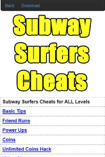 Subway Surfers Cheats Guide - screenshot thumbnail