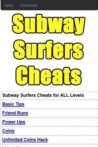 Subway Surfers Cheats Guide - screenshot