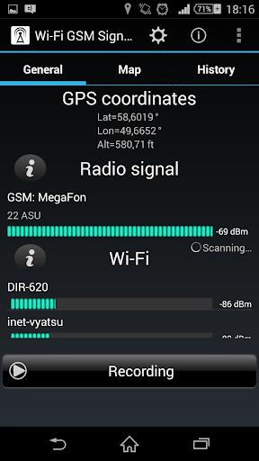 Wi-Fi GSM Signals Tracker