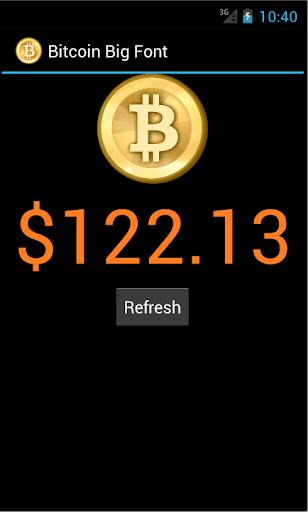 Bitcoin Price - Big Font