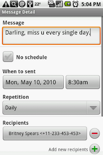 Group SMS Scheduler - screenshot thumbnail