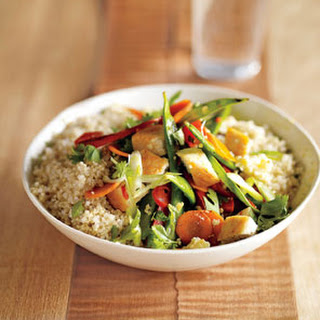 Quinoa Stir-Fry With Vegetables and Chicken.