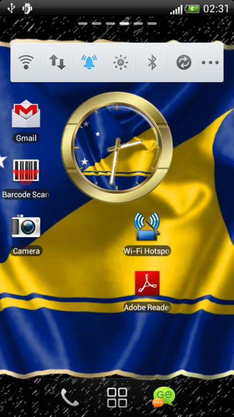 Tokelau flag clocks - screenshot