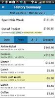 Screenshot of My Weekly Budget®