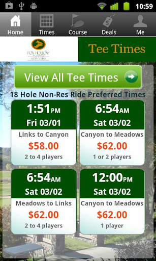 Fox Hollow Golf Tee Times