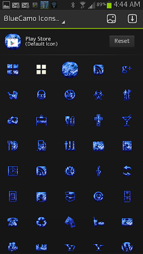 ICON SET BlueCamo