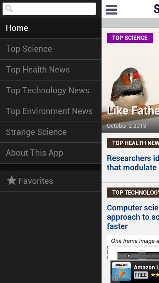 ScienceDaily - screenshot