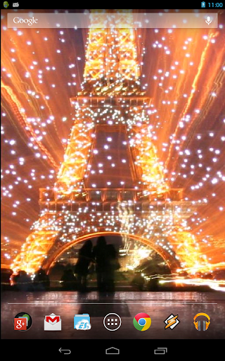 Night In Paris. Eiffel Tower.