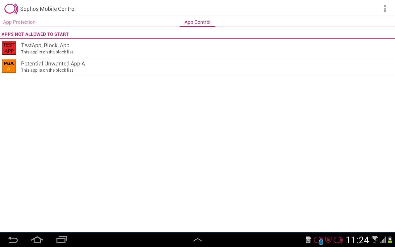 Sophos Mobile Control - screenshot
