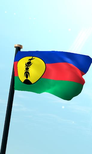 新喀裡多尼亞旗3D免費動態桌布