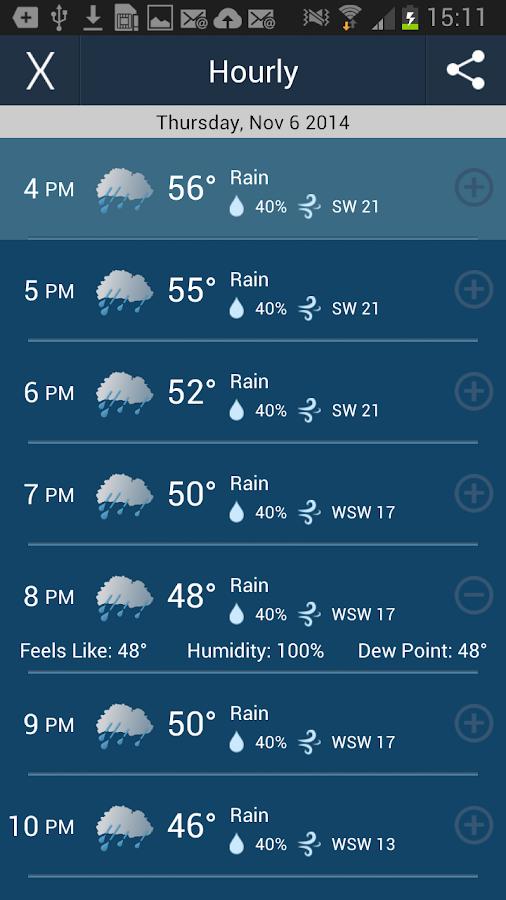 WeatherCaster- screenshot