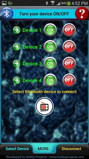 Bluetooth 4 Relays Control Pro