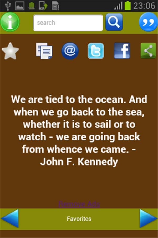 Quotes of Kennedy- screenshot