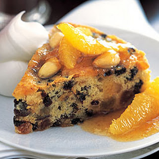 Dundee Cake with Hot Marmalade Sauce