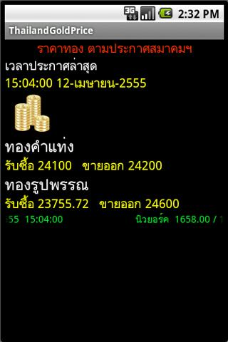 ราคาทอง Thailand Gold Price - screenshot