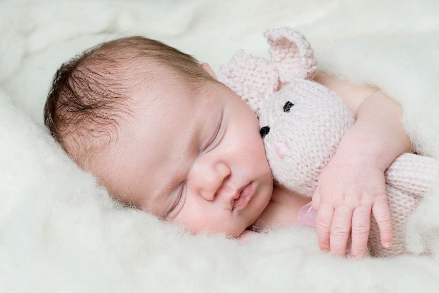 Bunny Love by Vikki Ford - Babies & Children Babies ( face, newborn photography, cute baby, baby girl, sleeping, newborn )