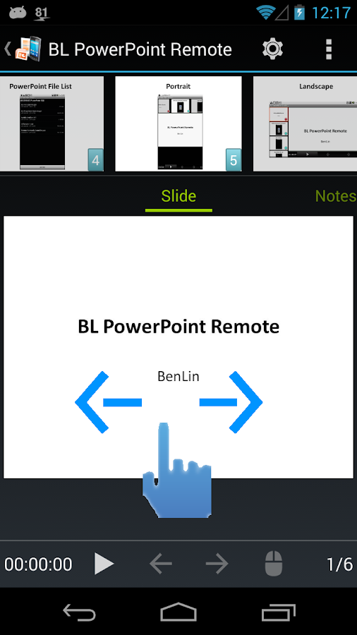 BL PowerPoint Remote - Free- screenshot