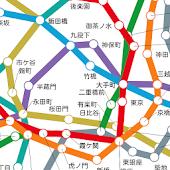 地下鉄で会おう-乗車中の列車位置を共有できる動く路線図-