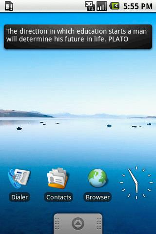Plato Quotes Widget 4x1 - screenshot