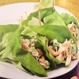 Curry Chicken Lettuce Wraps.