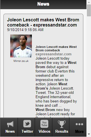 West Brom Football News