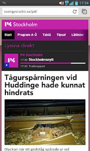 P4 Stockholm bokmärkesapp
