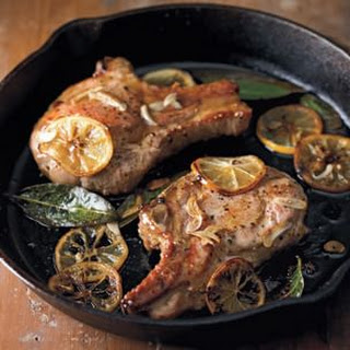 Pan-Seared Pork Chops with Meyer Lemon (Costole di Maiale in Padella)