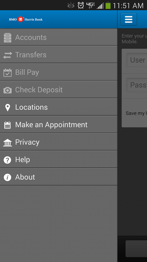 BMO Harris Mobile Banking - screenshot