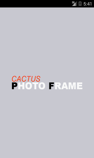 Cactus Photo Frame