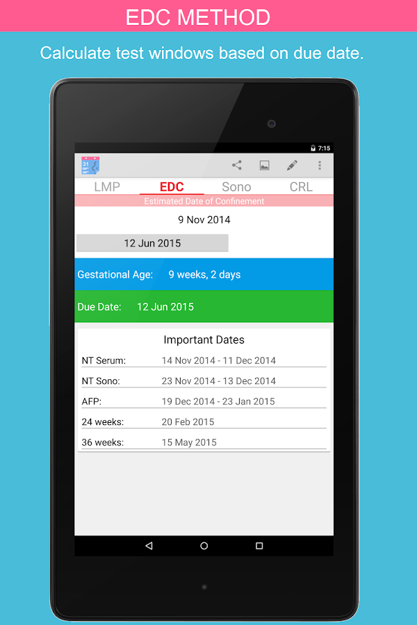 OB Calc Pro (Obstetrician)- screenshot