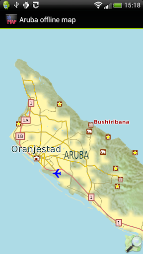 Aruba offline map
