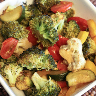 Balsamic Roasted Vegetables.