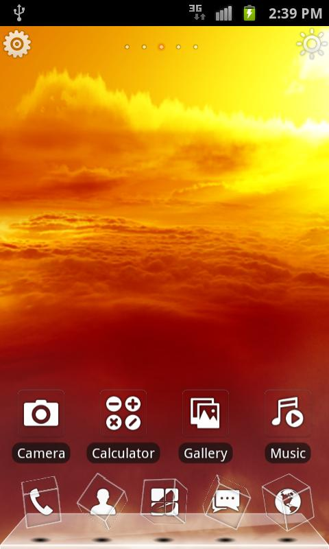 Sunset 3D Live Theme (FREE) - screenshot